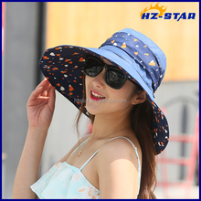 HZM-16331001 ladies fancy womens modern cap wide brim flower floppy summer <strong>hats</strong>