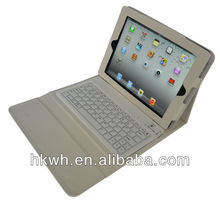 2013 newest with bluetooth Keyboard PU case for min ipad