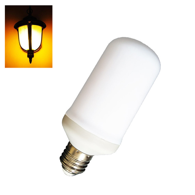 iled 1W 2W 3W 110V 220V E27 E26 E14 LED flicker Flame Effect Fire flame led bulb