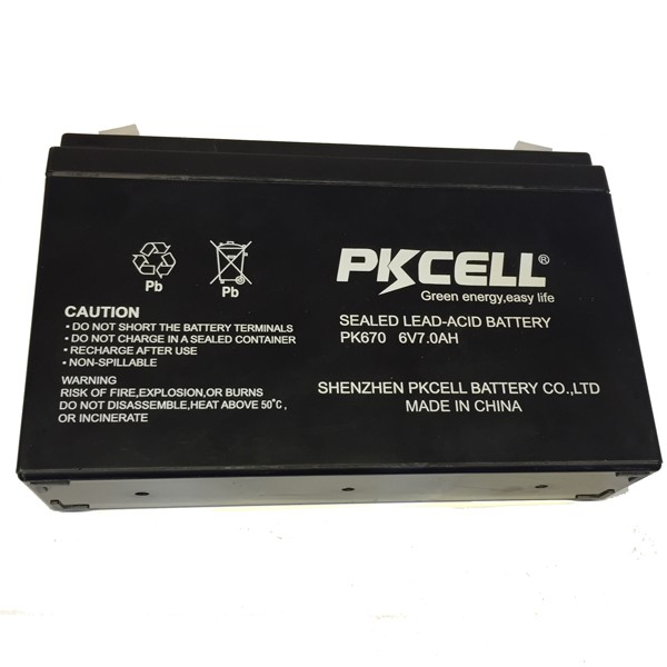 2017 PKCELL 6v 7ah Sealed lead acid rechargeable battery AGM type