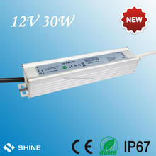 30w LED driver constant voltage 220v AC/DC TO 12V dc converter waterproof power switching power supply for ourdoor