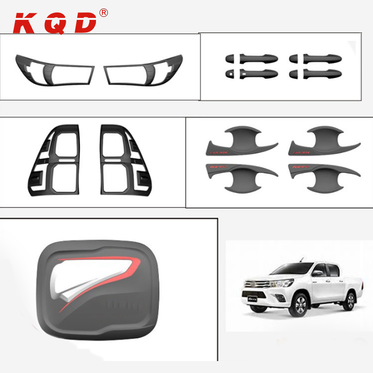 new style cheap price car accessories matte black full set for toyota hilux revo