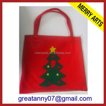 Yiwu China Manufacturers customized disposable felt christmas tree removal gift bag