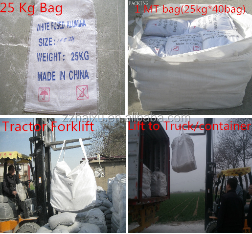 China manufacturer supplier white fused alumina oxide F8-220 sand blasting /F240-3000 white fused alumina oxide