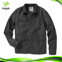 hot design gray 100% cotton quality mens winter workwear coat for washing and engineering