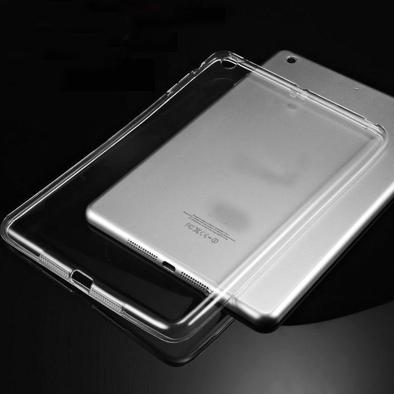 Transparent Clear Crystal TPU Soft Back Cover Case For iPad Pro