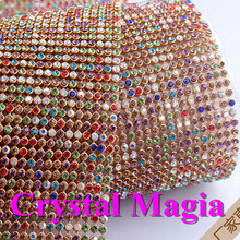 wholesale mixed color rhinestone trim, rhinestone chain trim