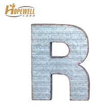 2016 small vintage metal letter 'R' wall decor wholesale