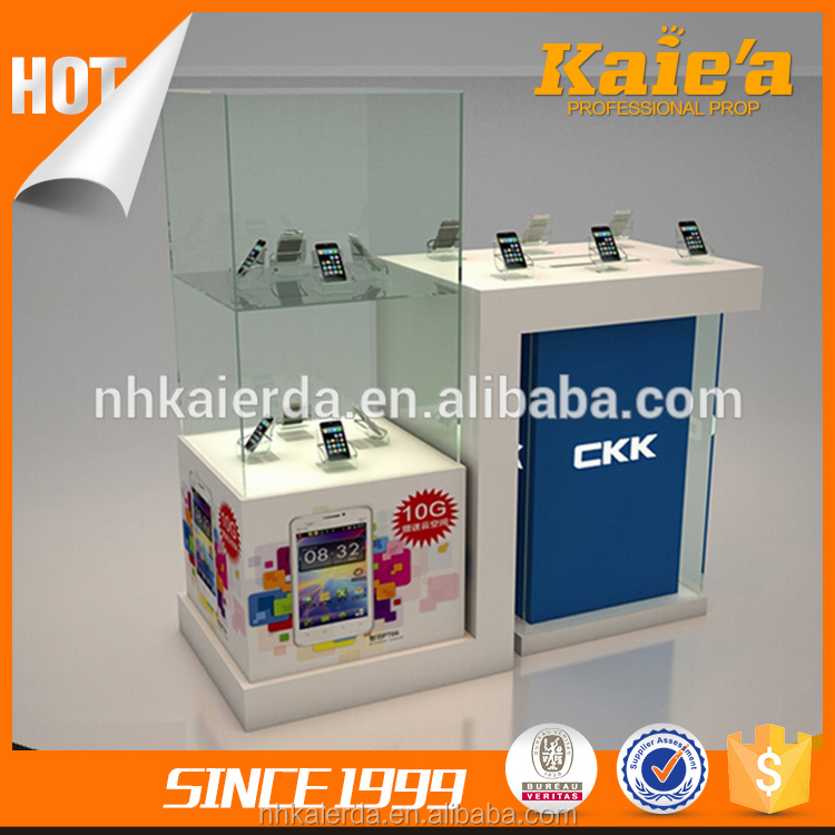 Hot sale used cell phone glass display cases