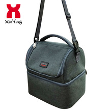 Adult Lunch Box Insulated Large Lunch Double Deck Cooler Tote Bag for Men, Women