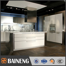 custom kitchen cabinet for sale high gloss lacquer and water-proof stainless teel cabinet kitchen
