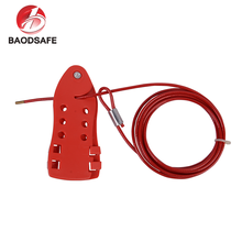 BAODI New Style Red Colour Plastic Coated 3m Flexible Security Cable Wire Lock
