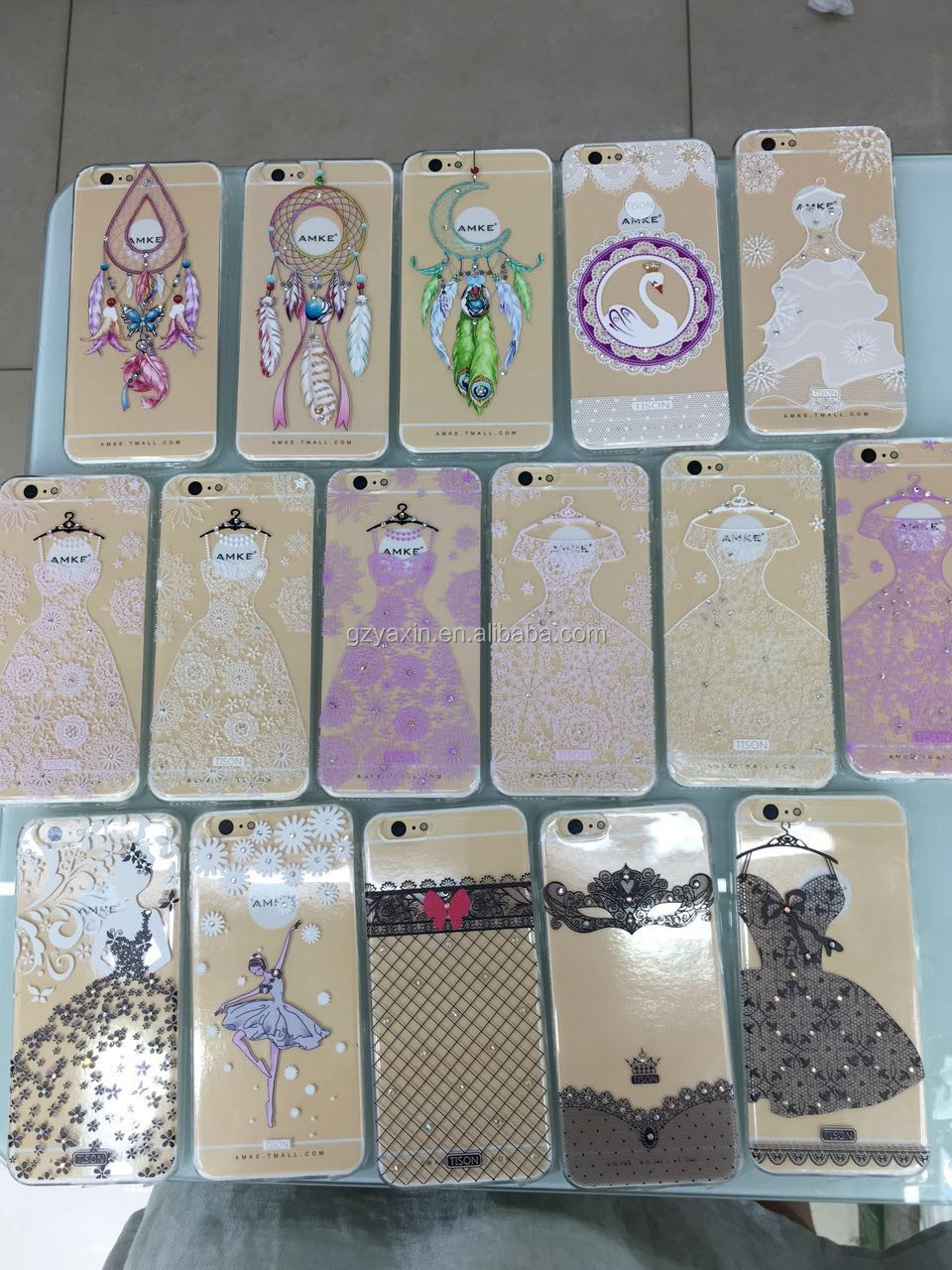 Promotion Price Customized Transparent TPU Soft Printed Case for Iphone6 6s & Samsung Smartphone