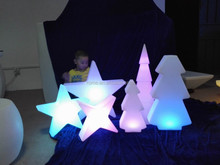 PE plastic flashing christmas star decoration