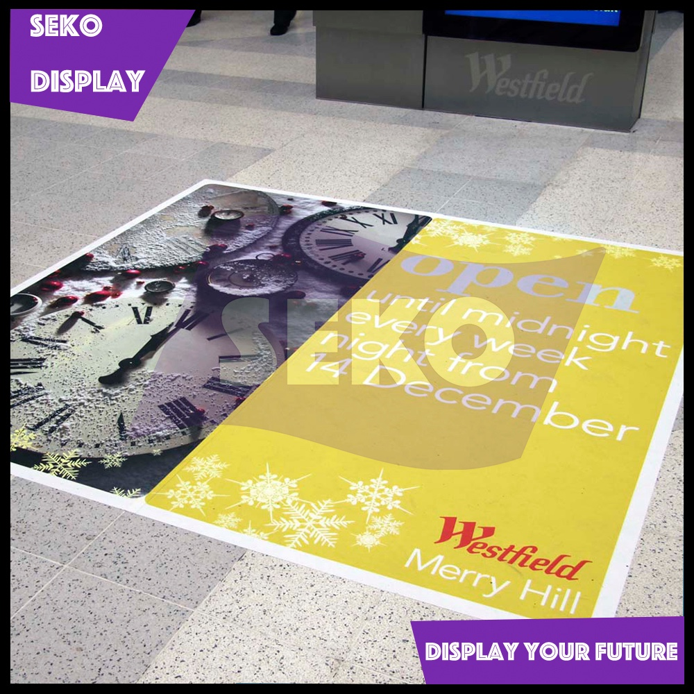 PVC floor sticker for indoor advertising with solvent digital printing