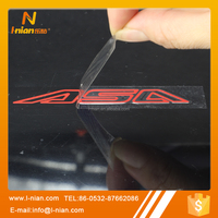 custom print transfer film hollowed out logo car sticker labels