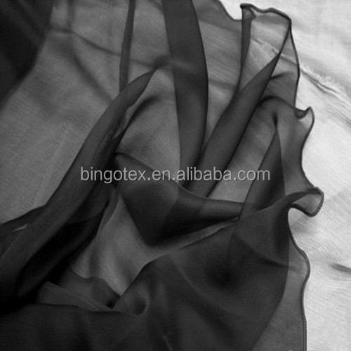 75D plain dyed chiffon fabric in different colours