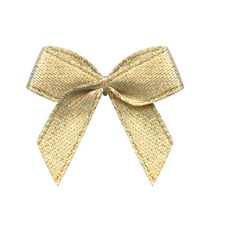 Superior quality hand craft gold glitter ribbon christmas hair bows