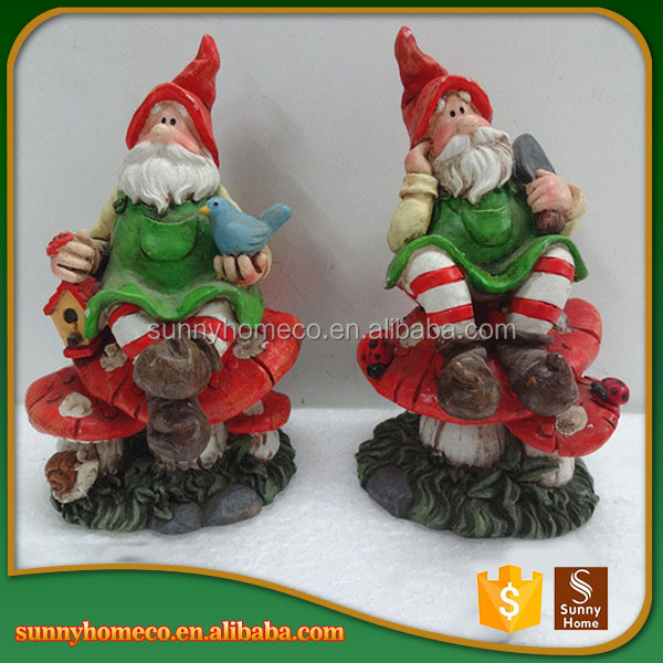 Custom 3D Resin Santa Claus Figurine For Garden Decoration