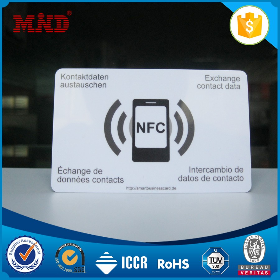 MDC0162 Rewritable cr80 pvc nfc smart card