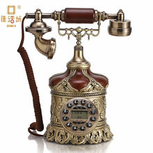 Wooden and Brass Antique Telephone with Retro Dial for Gift GBD-207E