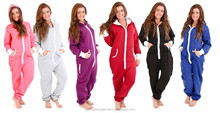 Women's Ladies Sleeping Suit Hoody Hoodie One Piece Tracksuit
