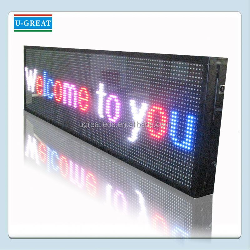 Scrolling/Moving Outdoor led moving message display sign
