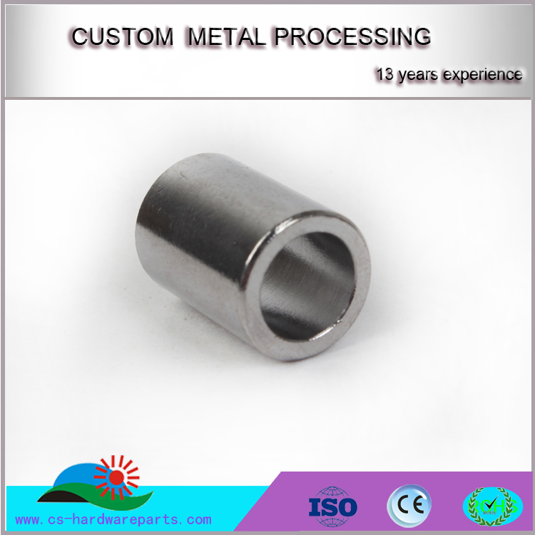 Custom OEM China supplier CNC machining service steel tubes with Zinc plating