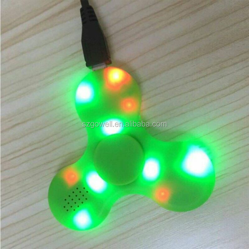 2017 New Arrival Cool Bluetooth Speaker Spinners LED Fidget Spinner