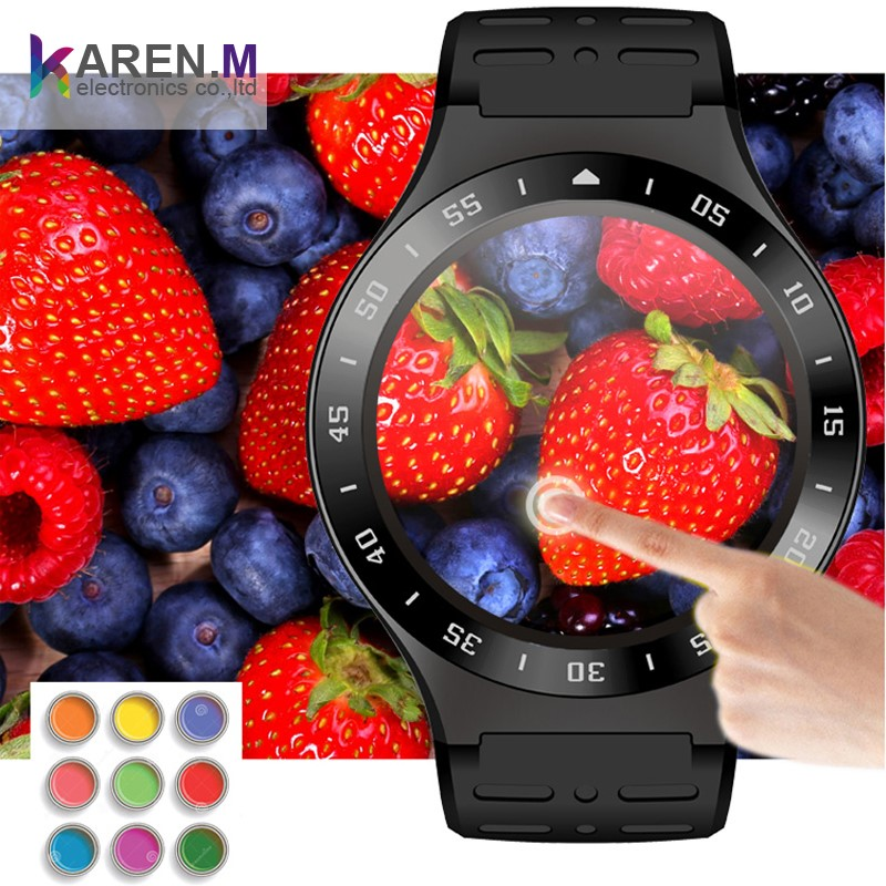 2017 Heart Rate Monitor 3G Android V5.1 smart watch phone 1GB HD Camera