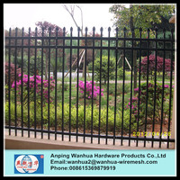 Alibaba China tubular steel security perimeter fence with best price