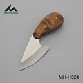 Wood handle hunting knife
