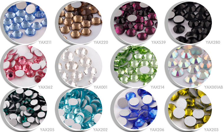Factory direct sale nail crystal rhinestones;ss12 crystal nail rhinestone;small trial order loose crystal rhinestone for nail