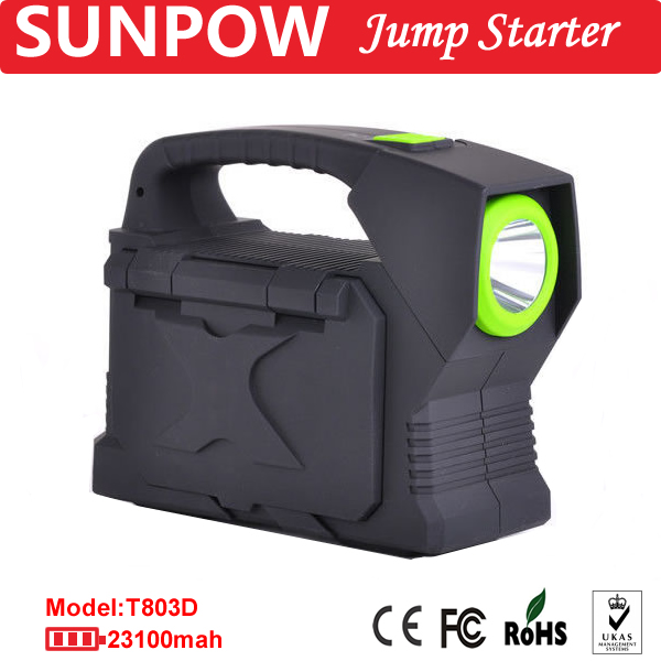 SUNPOW mini battery 12v mini snap on jump starter heavy duty jump leads lithium jump starter car power bank battery booster pack
