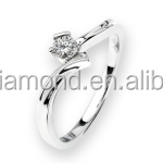 High Grade 0.145CT 18K white gold Diamond engagement rings with diamonds victorian jewelry