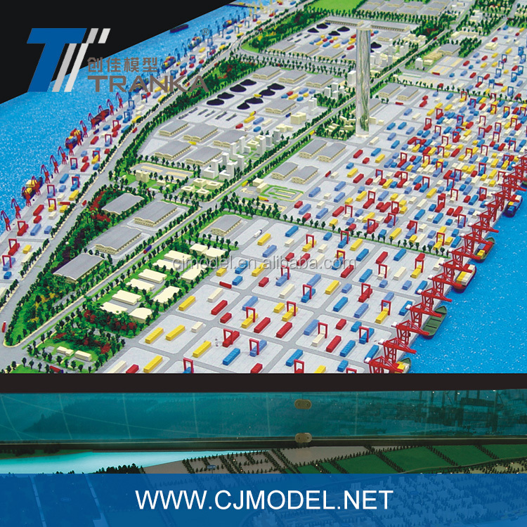 Harbour city miniature architectural model for planning use , large size planning scale model