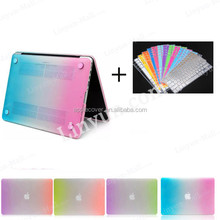 Hot selling ! Rainbow pc shell hard case for Macbook Retina 13.3/15.4 +keyboard screen protector, for Macbook Retina case