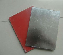 Red membrane or aluminium foil backed gypsum suspended ceiling tile