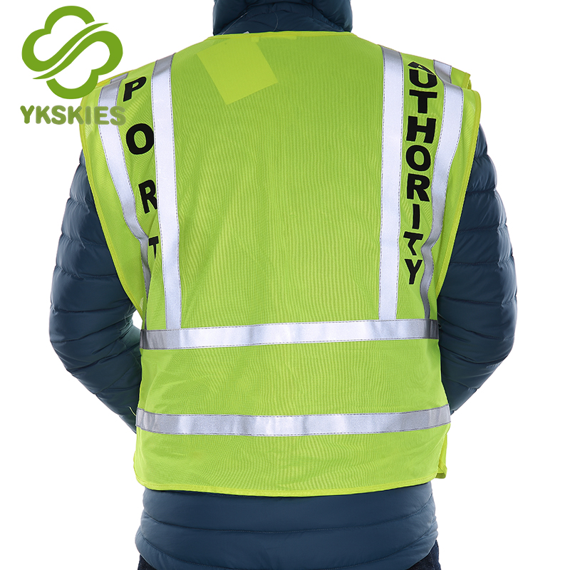 Concise security jacket polyester vest cotton vest