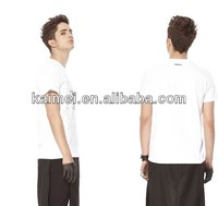Cheap fashion white short sleeve 100% cotton custom blank bulk wholesale t shirt