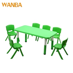 Wholesale children study plastic table and chairs colorful kindergarten furniture for kids