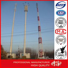 30m Hot dip galvanized steel tower pole , telecom pole for radio signal tv antenna