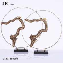 Metal dragon figurines Round stainless steel antique bronze brass dragon for bookshelf house hotel conference room decorative