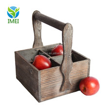 Oem Customized Fruit Used Crates Wooden Wine Crate