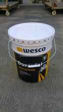 20 litre round steel paint bucket with printing design sold to Ecuador