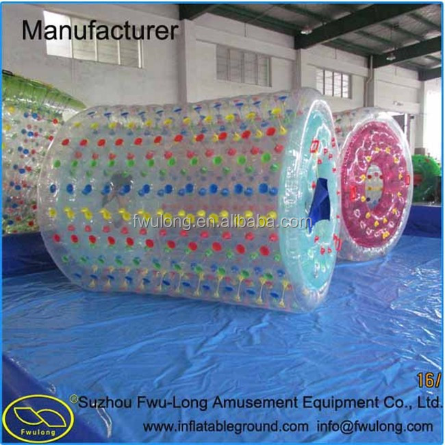 New game style water equipment inflatable water roller for sale
