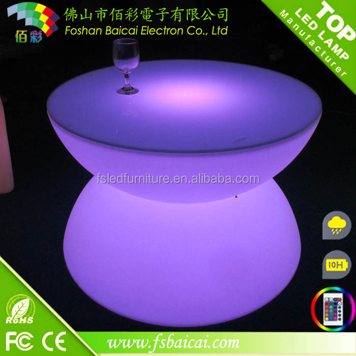 A portable illuminated led coffee table /bright colored coffee table/led light coffee table