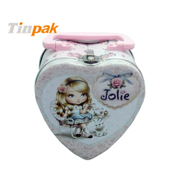 Heart Shape Tin Lunch Box For Kids