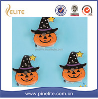 2016 halloween pumpkin custom plastic pins round badges with led