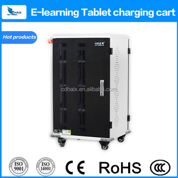 Tablet charging cart ipad mobile charging station